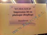 workshop imprimante 3D